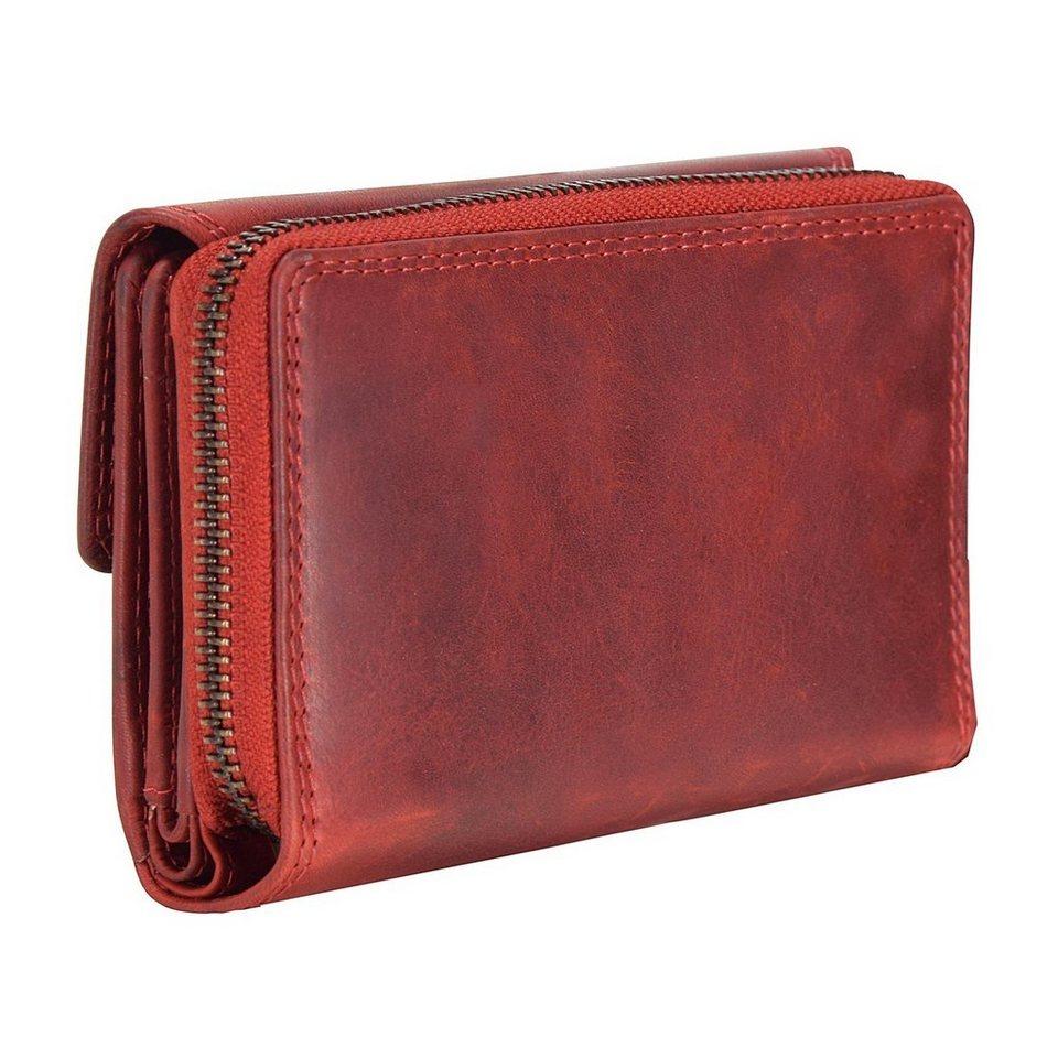 cocoono Classic Geldbörse Leder 14 cm in rot