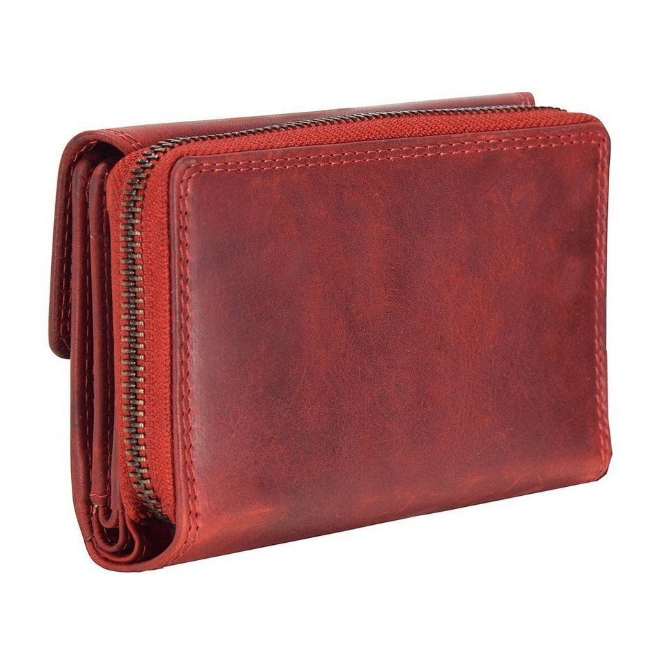 cocoono Cocoono Classic Geldbörse Leder 14 cm in rot