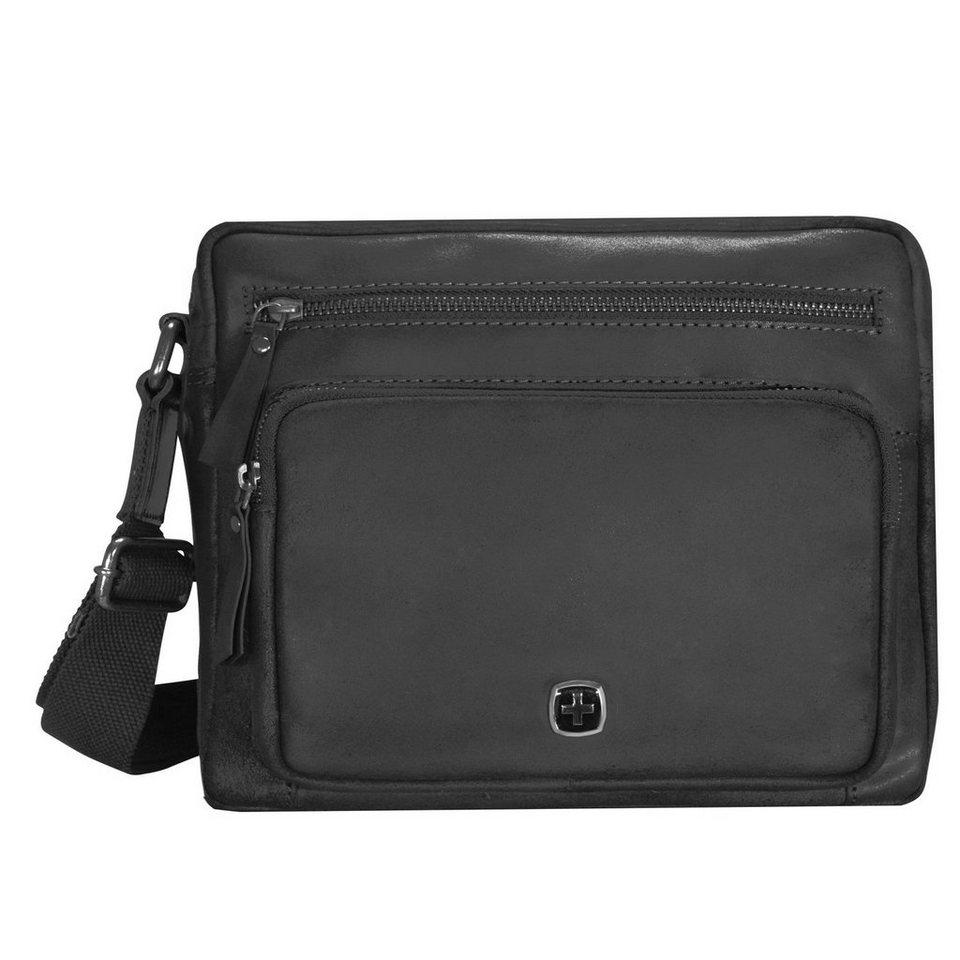 Wenger Cloudy Umhängetasche Leder 35 cm Tabletfach in schwarz