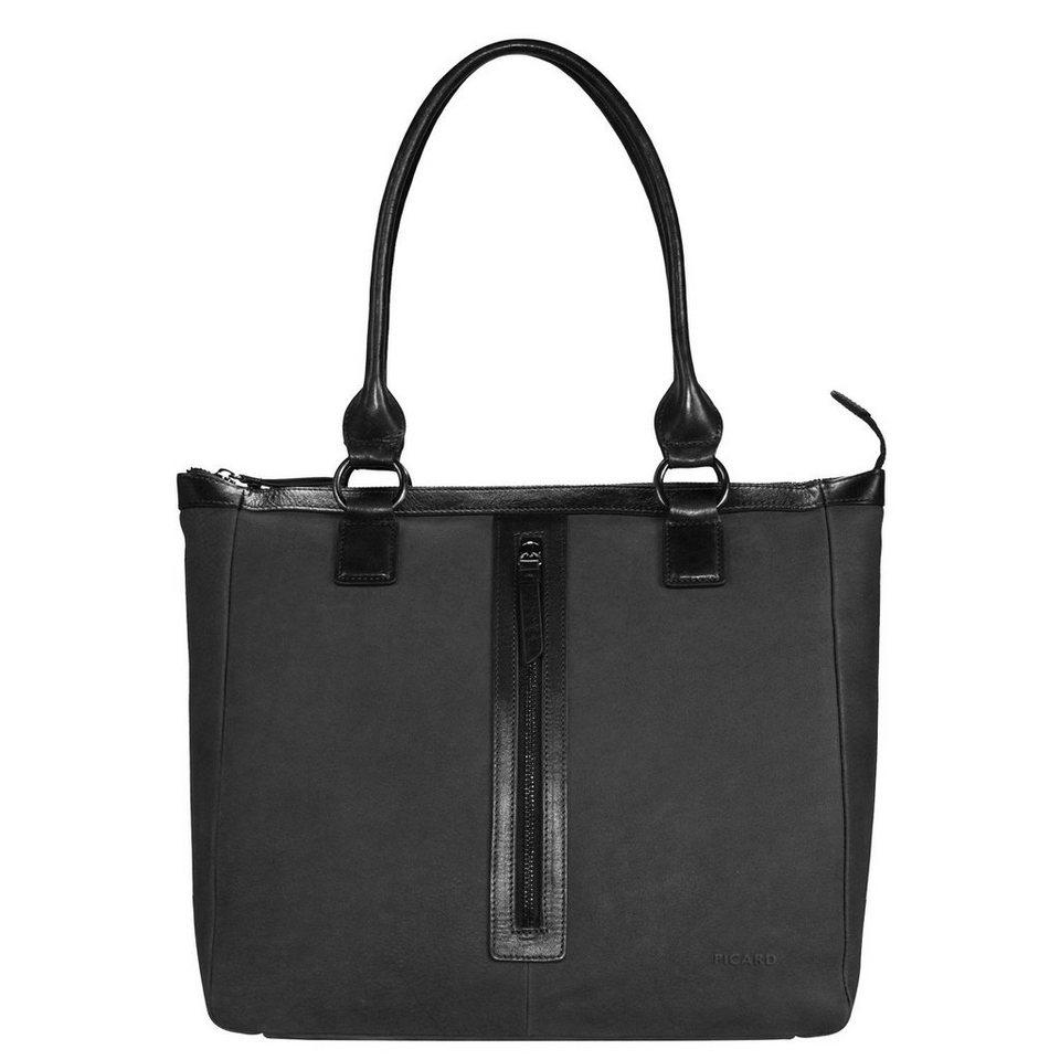 Picard Snow 6 Shopper Tasche Leder 39 cm in schwarz