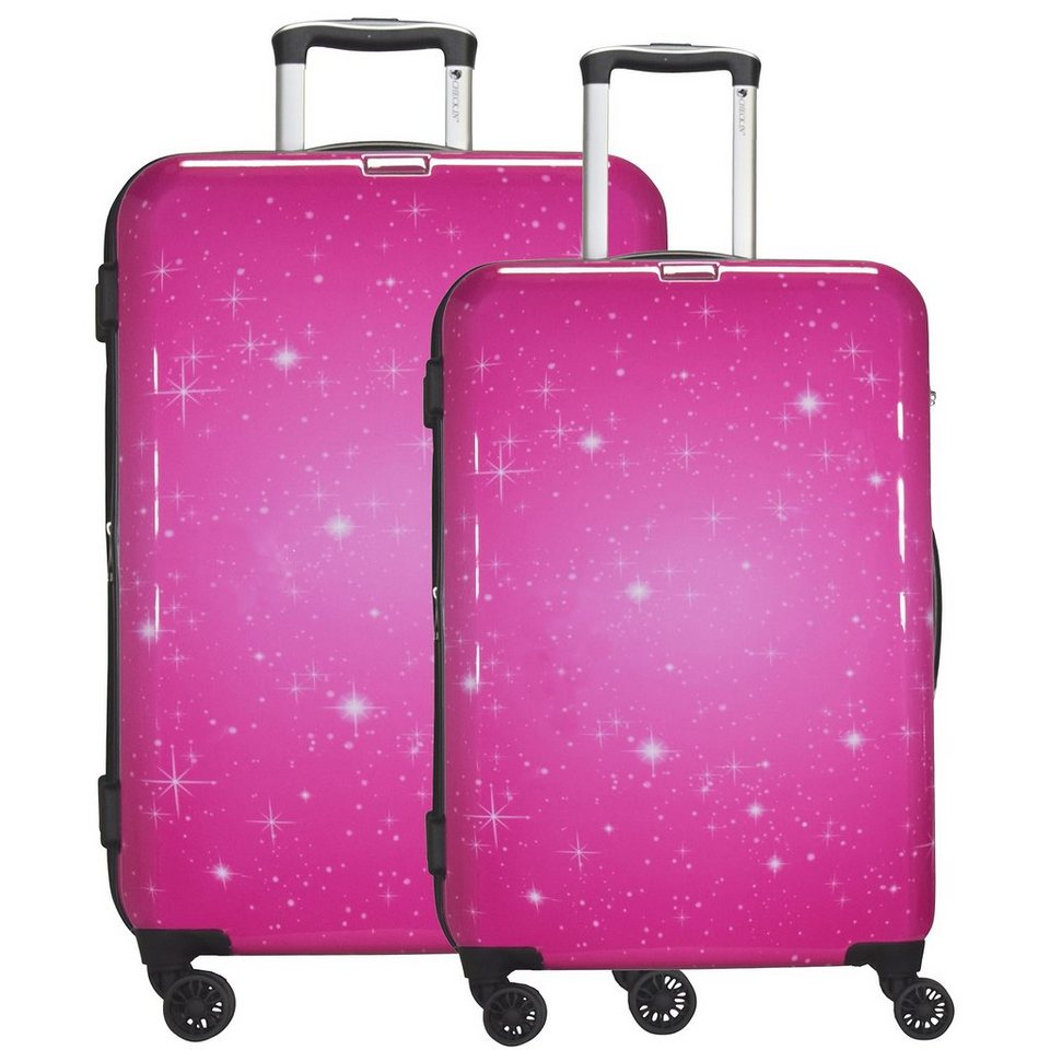 CHECK.IN Galaxy 4-Rollen Kofferset 2tlg. in pink