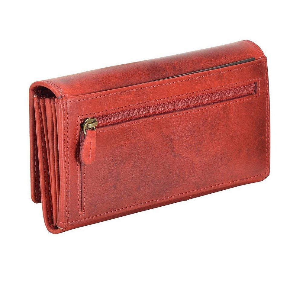 cocoono Geldbörse Leder 18 cm in rot