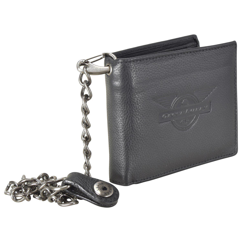 Greenburry Vintage Black Wings Geldbörse Leder 12 cm