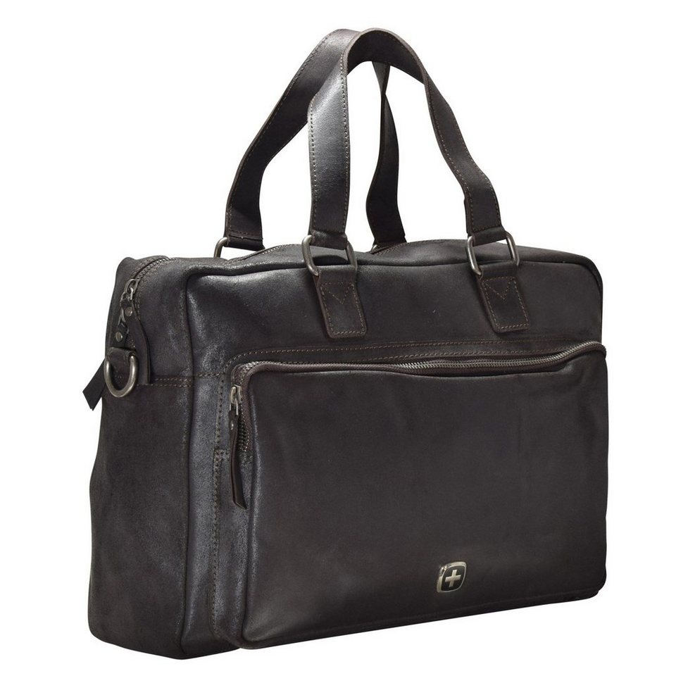 Wenger Cloudy Aktentasche Leder 40 cm Laptopfach in braun
