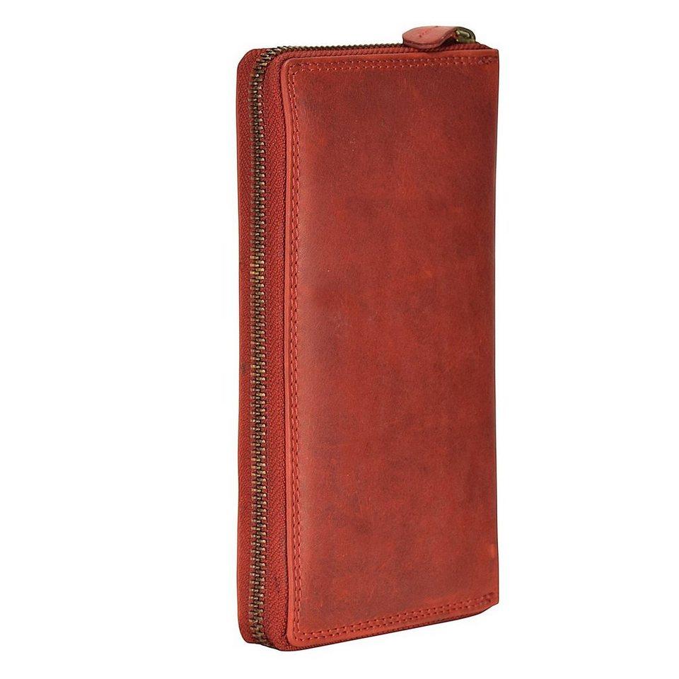 cocoono Classic Geldbörse Leder 10 cm in rot