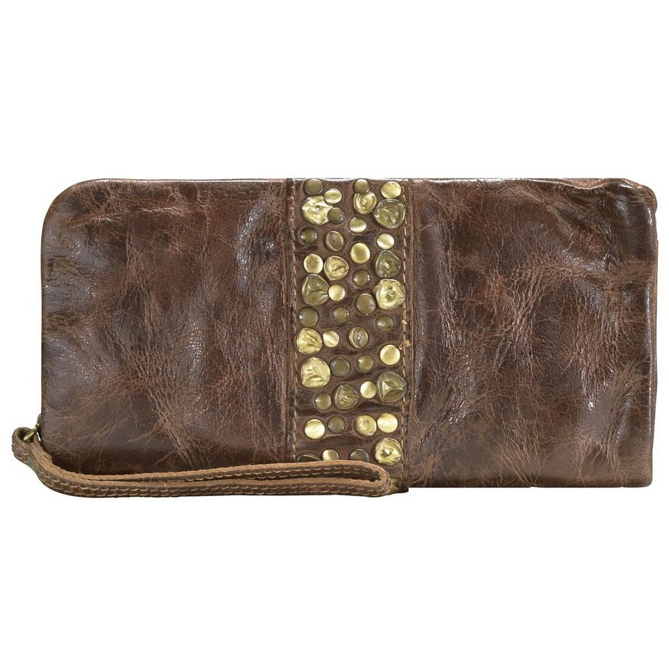 Billy the Kid Nelly Clutch Tasche Leder 20 cm in chocolate