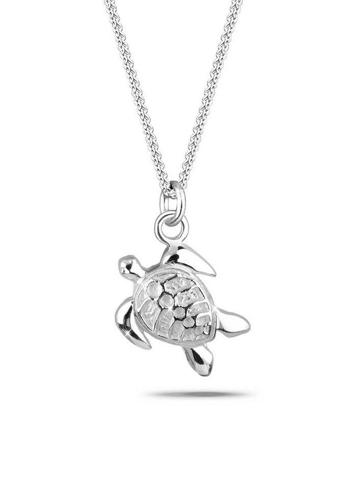 Elli Halskette »Schildkröte Meer 925 Silber« in Silber