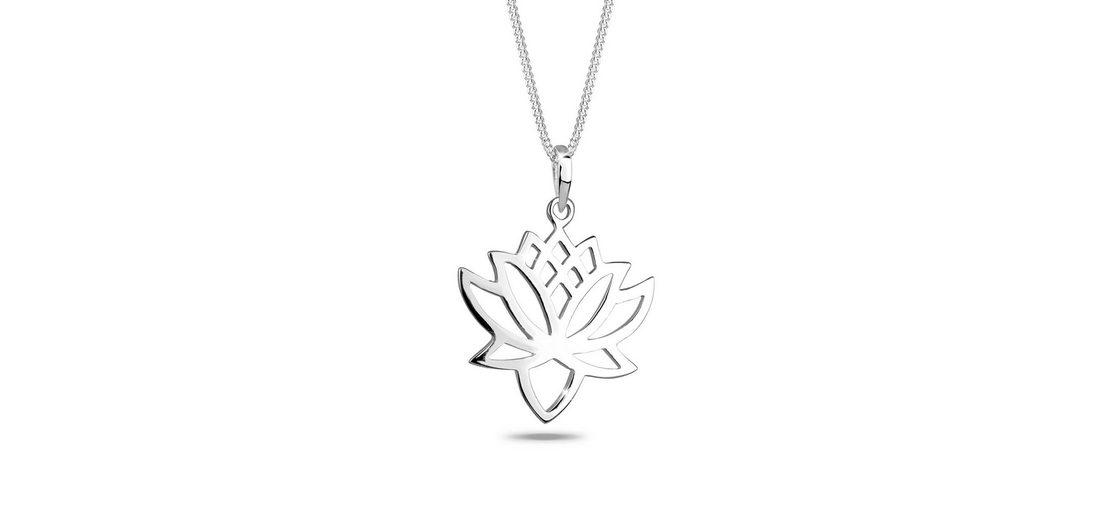 Elli Halskette »Lotusblüte Talisman 925 Silber«