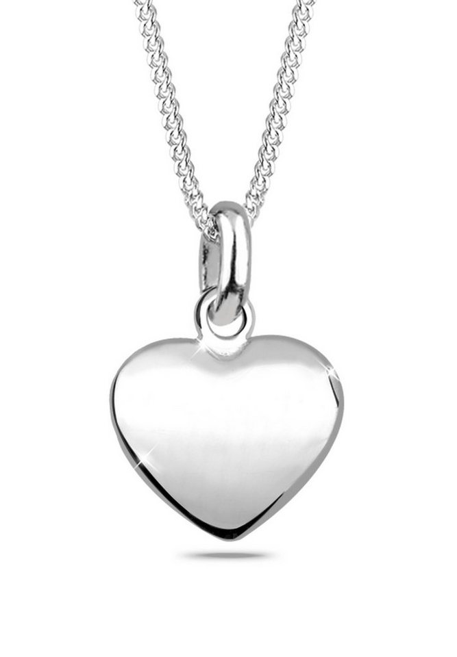 Elli Halskette »Herz Filigran Dünn 925 Silber« in Silber