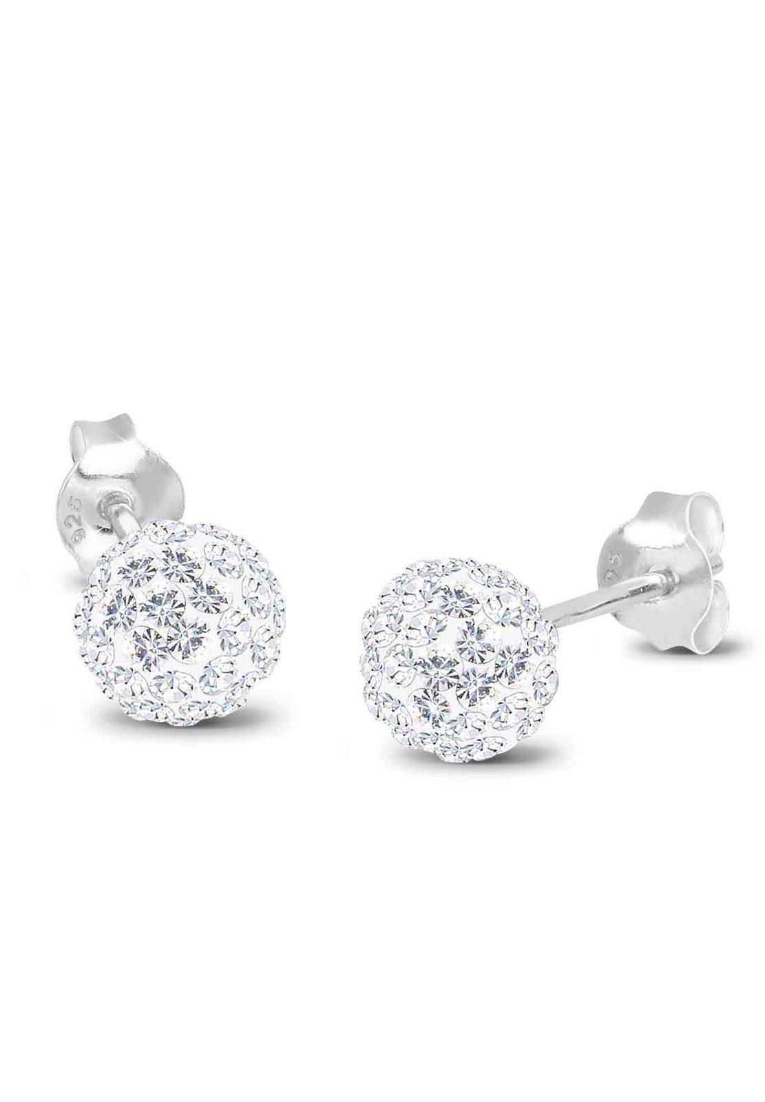 Elli Ohrringe »Kugel Swarovski® Kristalle Funkelnd Elegant Silber«