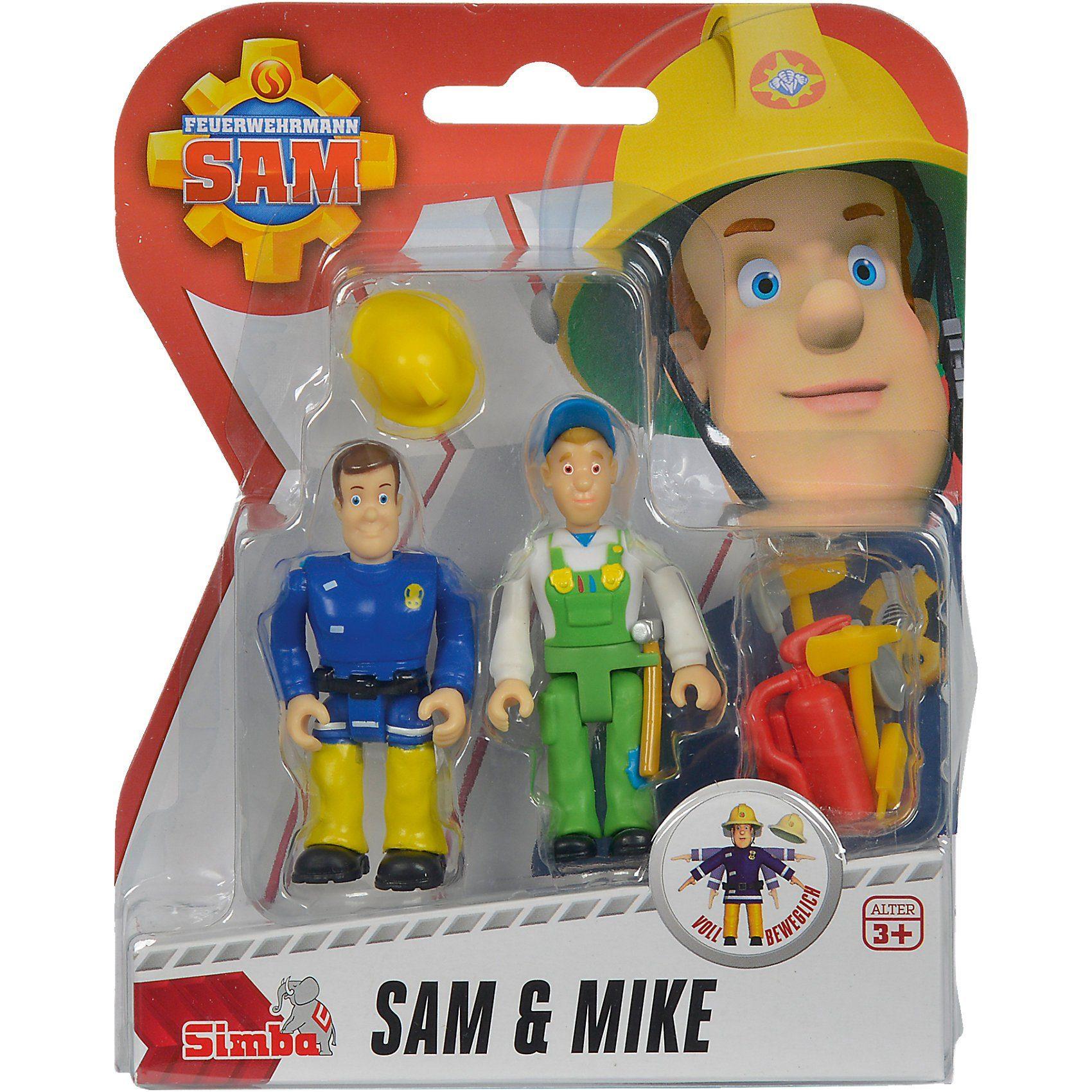 Simba Feuerwehrmann Sam Figuren Doppelpack, 4-sort.