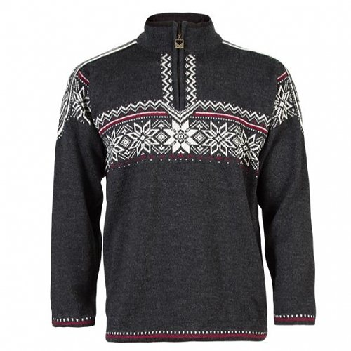 Dale of Norway Pullover »Holmenkollen« in dark charcoal/off wh