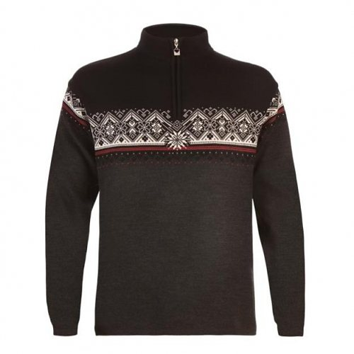 Dale of Norway Pullover »St. Moritz« in dark charcoal/raspbe