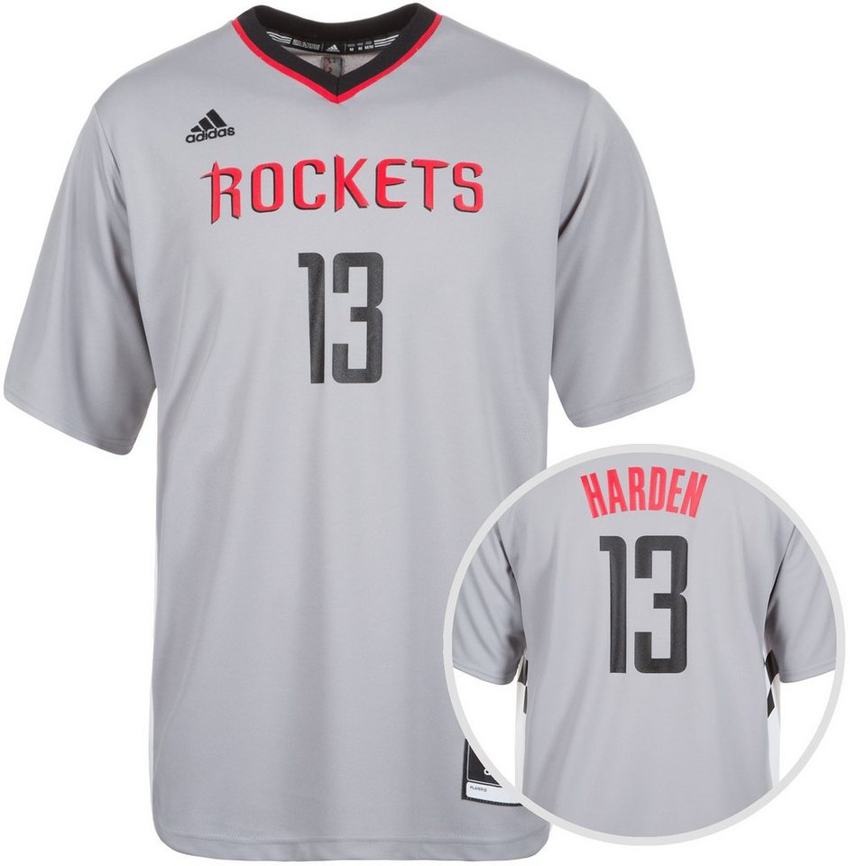adidas Performance Houston Rockets Harden T-Shirt Herren in grau / weiß / schwar