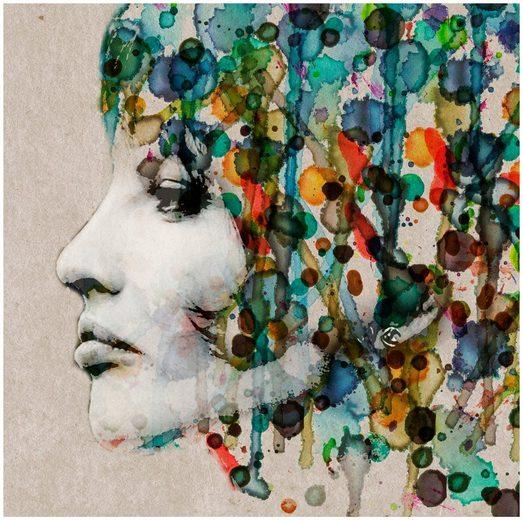 ART & PLEASURE Wanddekoration »Aquarell face«, aus Edelstahl