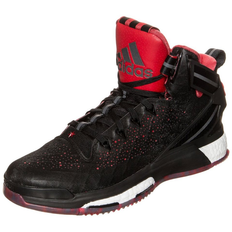 adidas Performance Derrick Rose 6 Boost Basketballschuh Herren in schwarz / rot / weiß