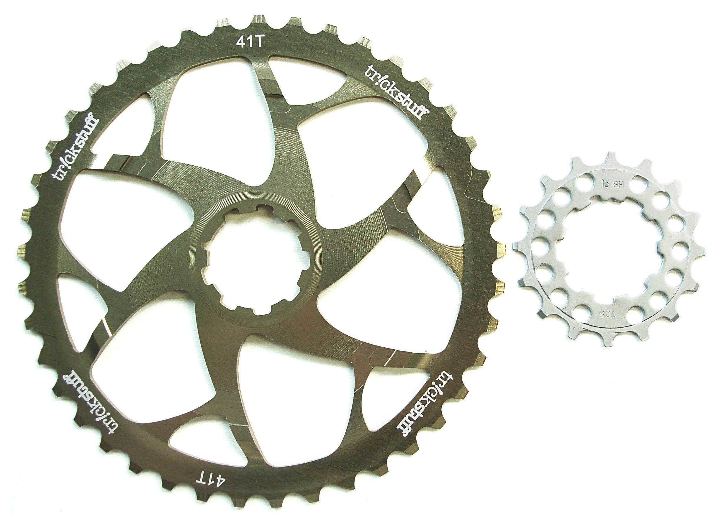 Tr!ckstuff Fahrradkasetten »Versägeblatt Ritzelerweiterung + 16-Zähne-Ritzel«
