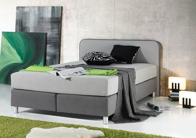 Maintal Boxspringbett | Schlafzimmer > Betten > Boxspringbetten | Grau | Strukturstoff | Maintal