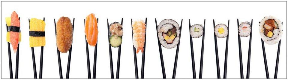 Küchenrückwand - Spritzschutz »profix«, Sushi, 220x60 cm in bunt