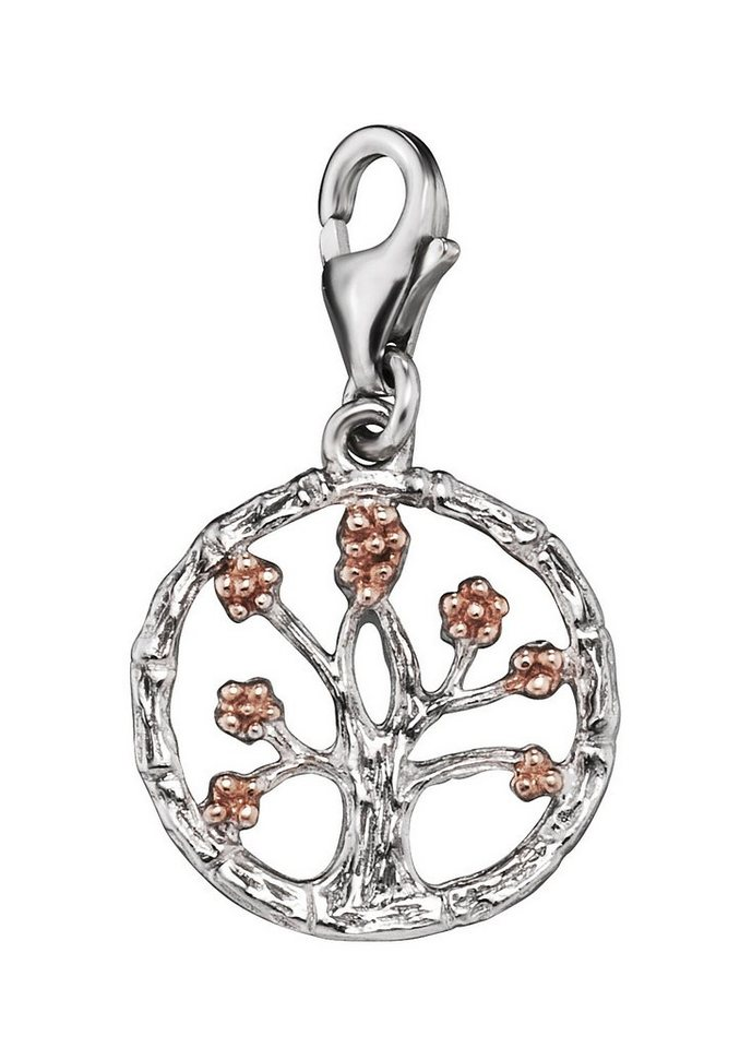 Julie Julsen Charm-Einhänger, »Lebensbaum, JJCH9289.8« in Silber 925/roségoldfarben