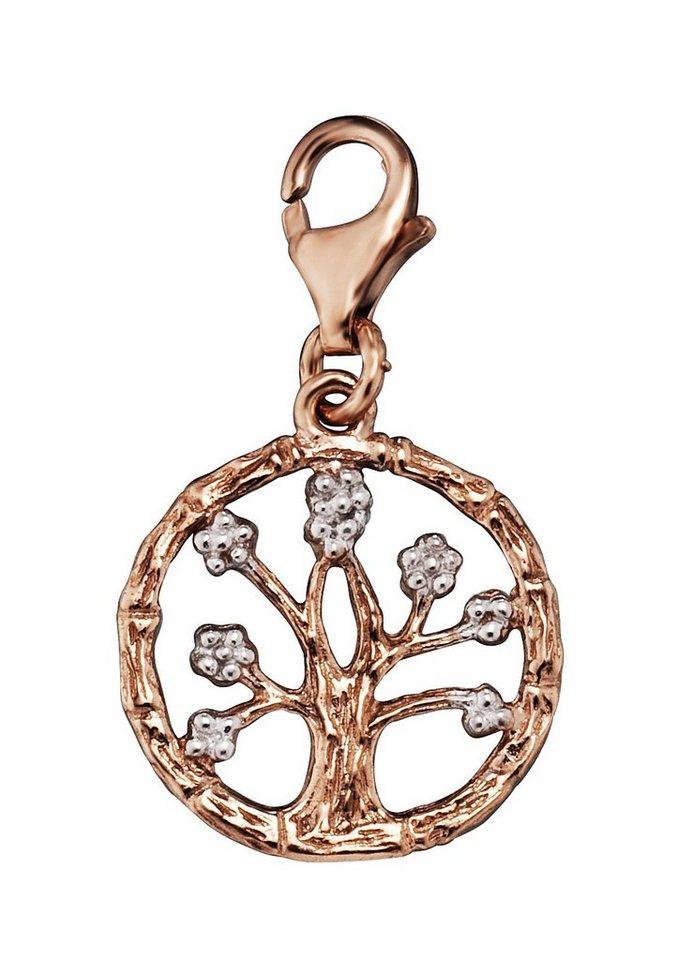 Julie Julsen Charm-Einhänger, »Lebensbaum, JJCH9289.4« in Silber 925/roségoldfarben