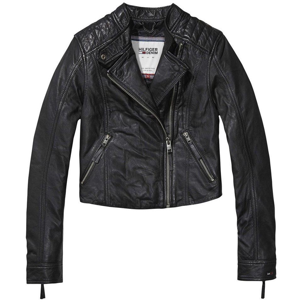 Hilfiger Denim Outdoorjacken »Leather biker 23« in TOMMY BLACK