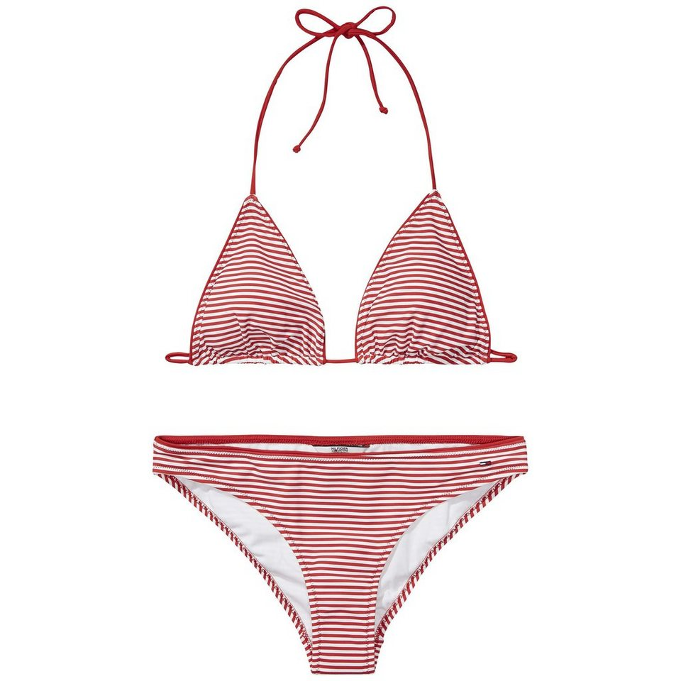 Hilfiger Denim Bikini »Striped bikini 2« in SALSA / white