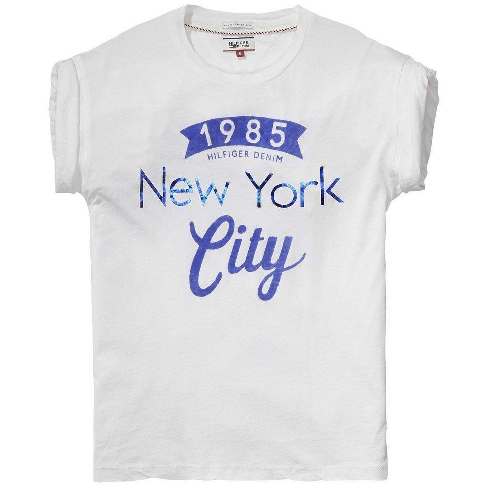 Hilfiger Denim T-Shirts (mit Arm) »Dry jersey cn tee ss 20« in white