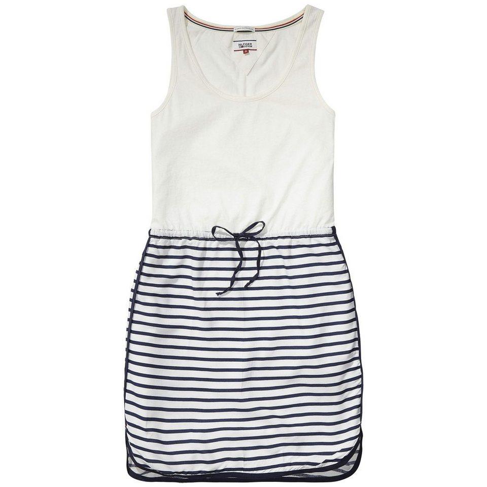 Hilfiger Denim Kleider »Basic print mix n/s dress 1« in EGRET / NAVY BLAZER