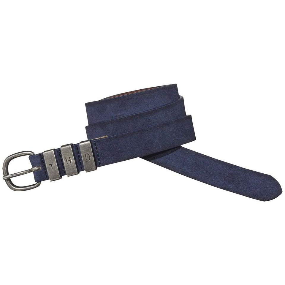 Hilfiger Denim Gürtel »Leather belt 6« in NAVY BLAZER