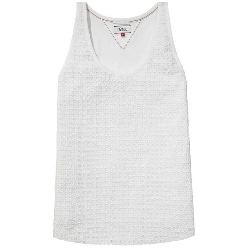 Hilfiger Denim Blusen »Shifali cotton tank n/s 22« in white