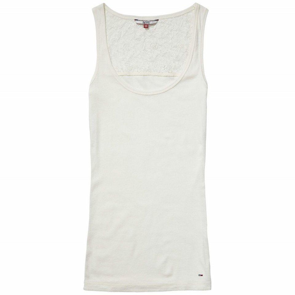 Hilfiger Denim T-Shirts (mit Arm) »Basic rib lace tank 01« in EGRET
