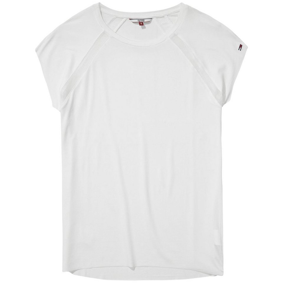 Hilfiger Denim T-Shirts (mit Arm) »Cupro cn knit s/s 30« in white