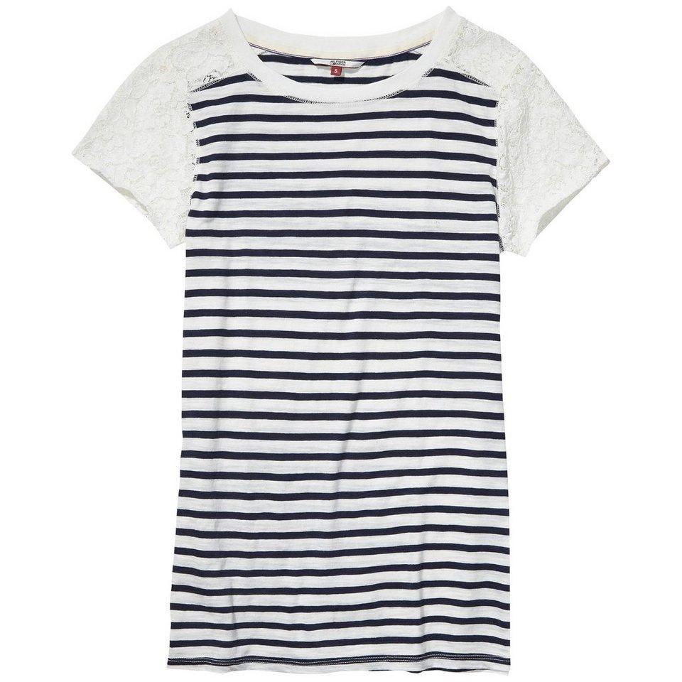 Hilfiger Denim T-Shirts (mit Arm) »Basic stp lace cn knit s/s 11« in EGRET / NAVY BLAZER
