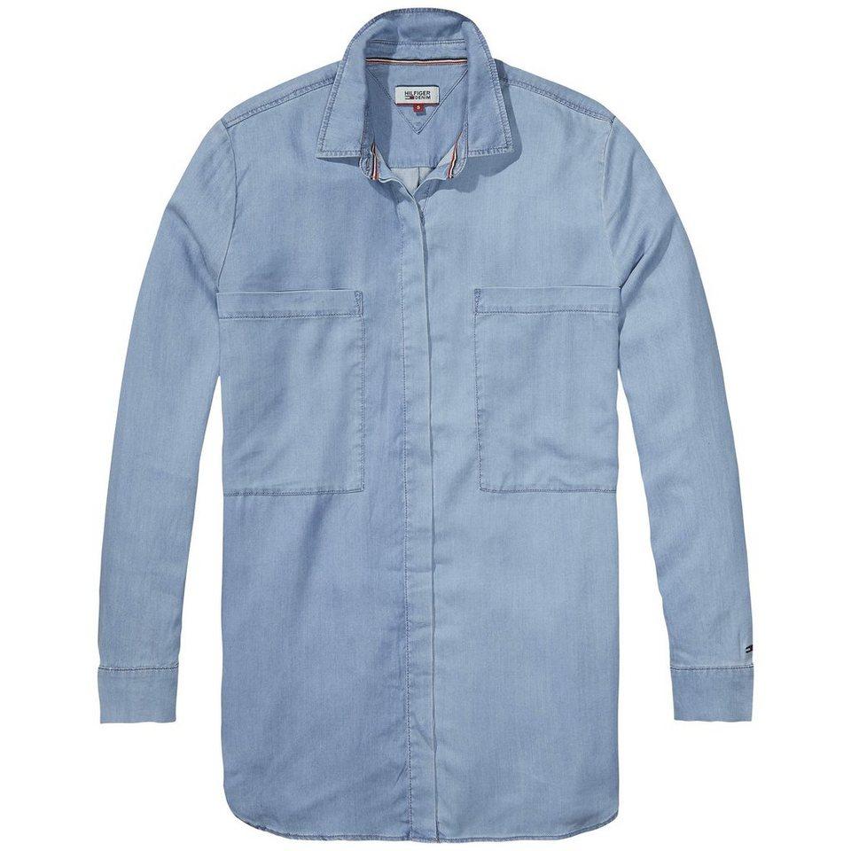 Hilfiger Denim Blusen »Boyfriend pocket l/s shirt DRIL« in DRAPEY INDIGO LIGHT-EUR