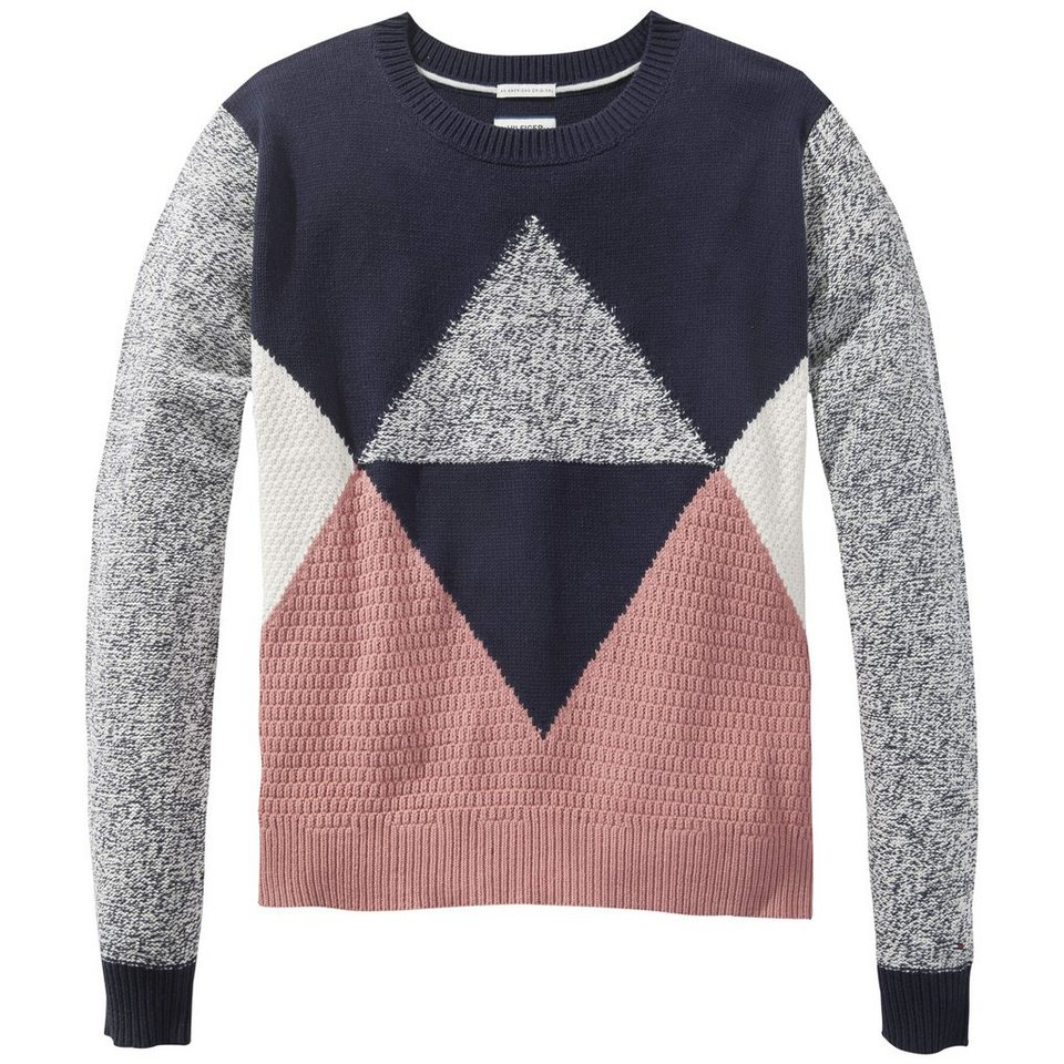 Hilfiger Denim Pullover »Graphic cn sweater l/s 15« in DUSTY ROSE/ MULTI