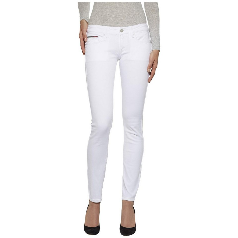 Hilfiger Denim Jeans »Low rise skinny Sophie WHST« in WHITE STRETCH