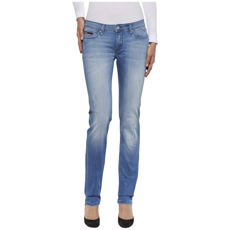 Hilfiger Denim Jeans »Mid rise straight Sandy BODST« in BONNET DESTR STRETCH