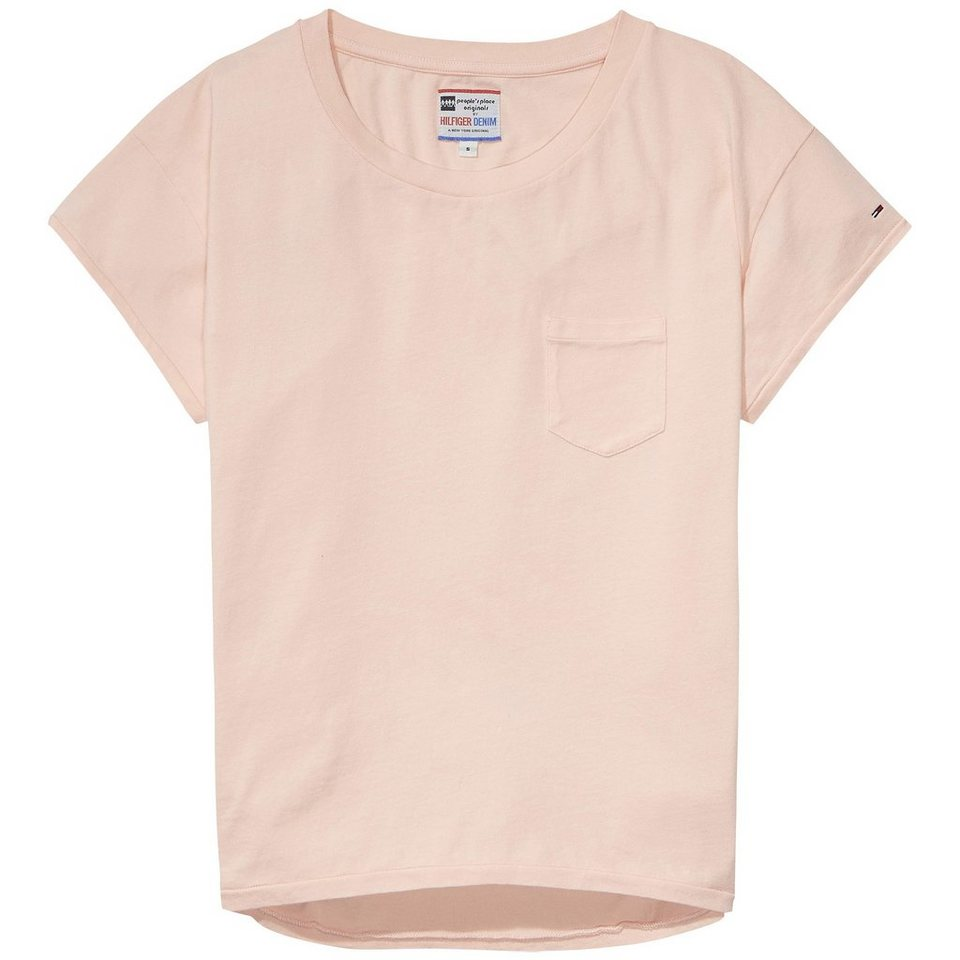 Hilfiger Denim T-Shirts (mit Arm) »PPO plain knit s/s« in IMPATIENS PINK