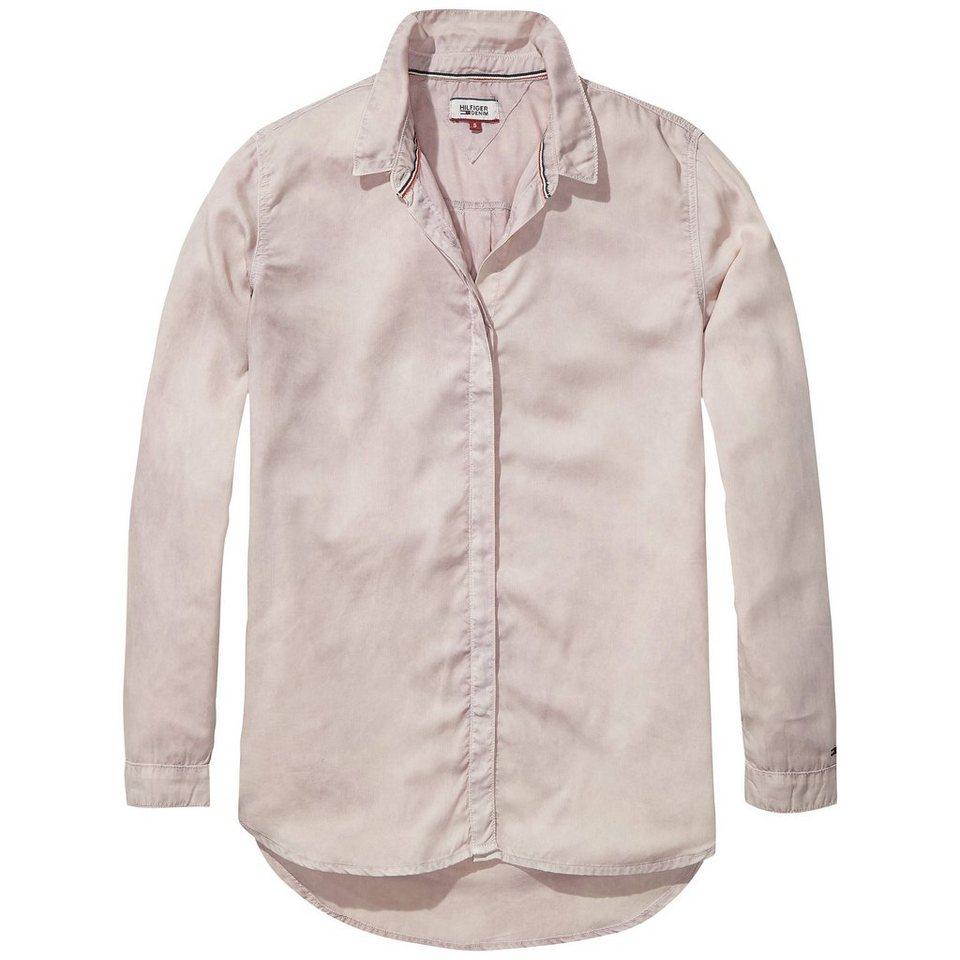 Hilfiger Denim Blusen »Drapey boxy l/s shirt GDTE« in PEACH WHIP