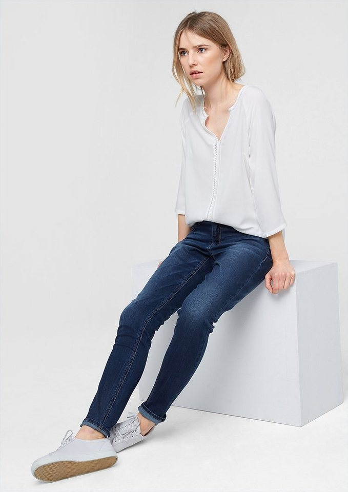 s.Oliver Shape Superskinny: Stretch-Jeans in blue denim stretch