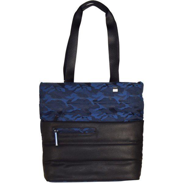 Roncato Boston Shopper Business Tasche 35 cm in camouflage blu