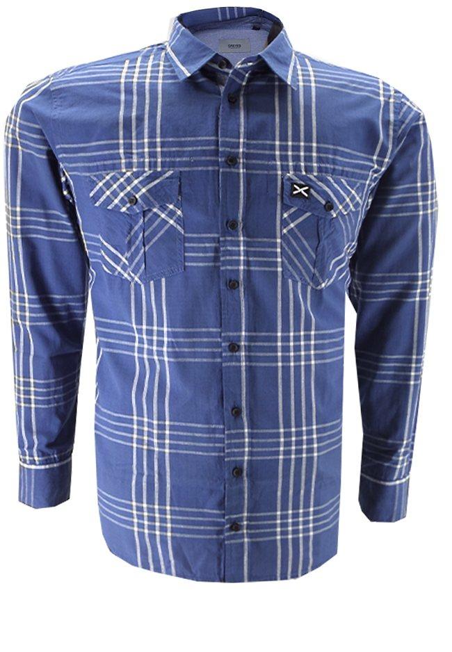 greyes Greyes Oberhemd in Blau