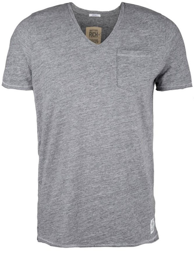 Better Rich T-Shirt »V-NECK POCKET M« in feather gray
