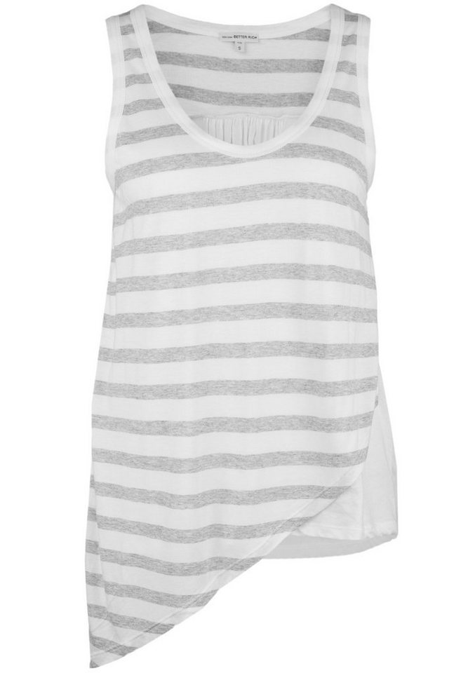 Better Rich Top »STRIPE MIX« in gray/white block