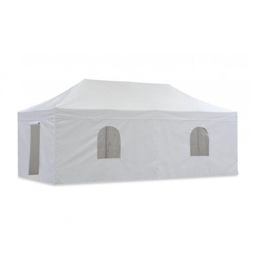 Tentastic Zelt (Zubehör) »Pavillon Hexa PVC 3 x 6 m Seitenwände« in Weiß