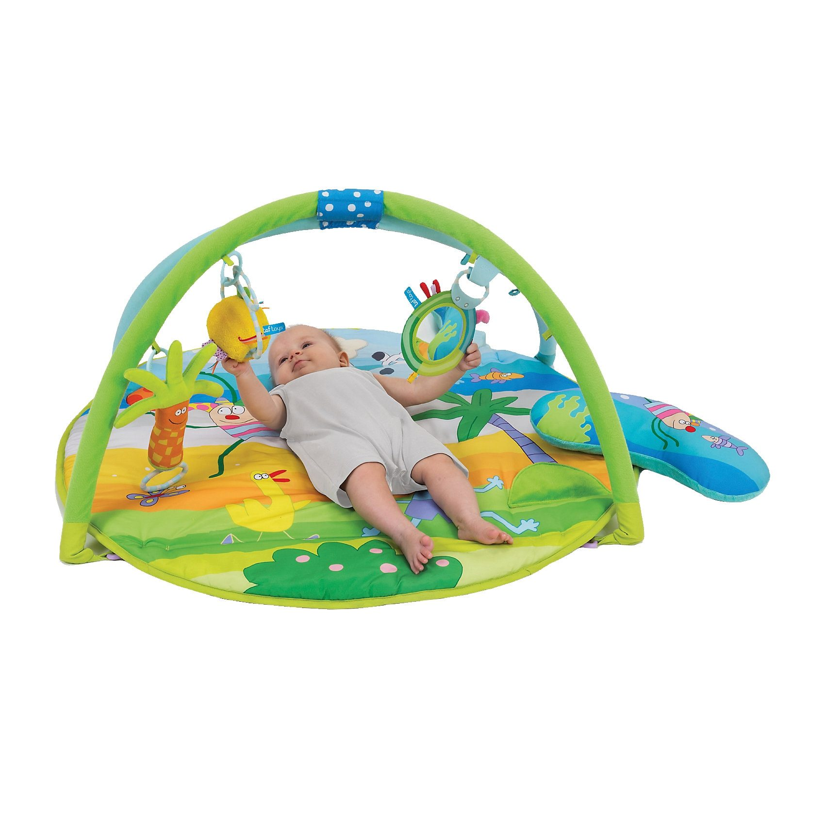 TAF TOYS 11645 Spieldecke Tummy-Time Clip on
