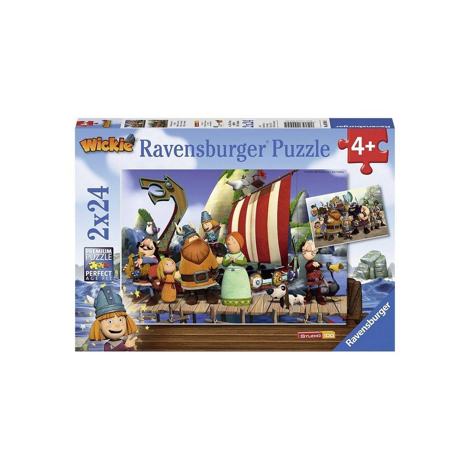 Ravensburger Puzzle-Set Wickie und seine Freunde 2 x 24 Teile