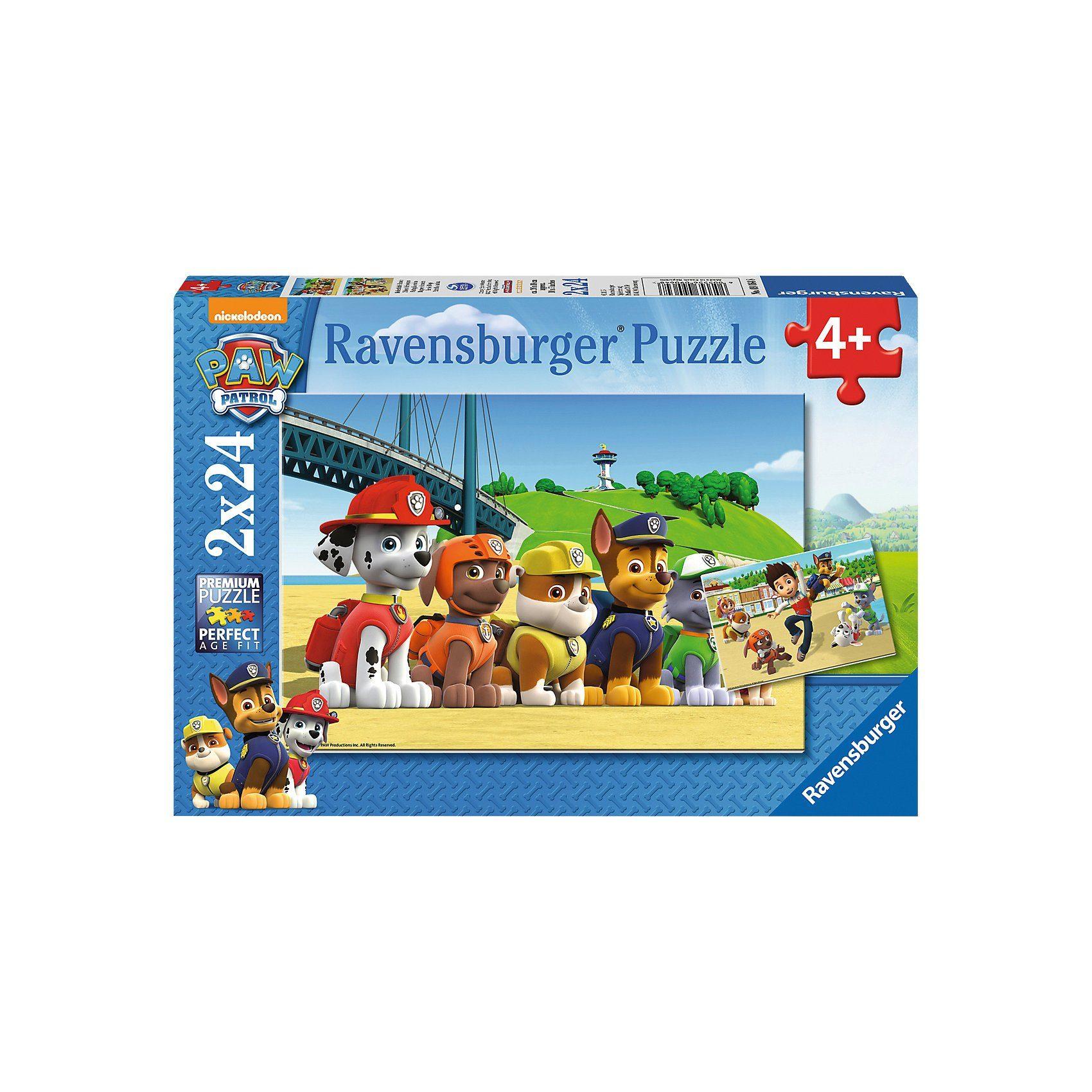 Ravensburger Puzzle-Set Paw Petrol: Heldenhafte Hunde 2 x 24 Teile