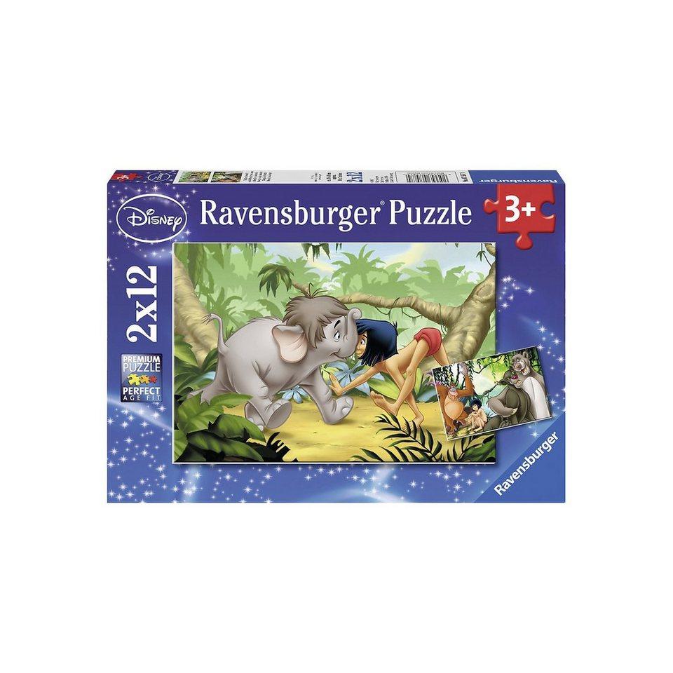 Ravensburger Puzzle Mogli und seine Freunde 2 x 12 Teile